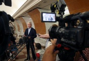 Sergei Sobyanin in the Moscow metro