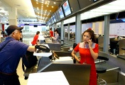 TransAsia Airways counter at an airport in Taiwan (archive)