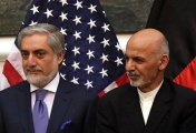 Afghan President Ashraf Ghani (R) and Chief Executive Dr. Abdullah Abdullah