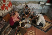 Family of Syrian Kurdish fighter at house in Suruc, on the Turkey-Syria border