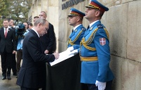 On October 16 Russian president Vladimir Putin Putin visited Belgrade as part of the celebrations marking the 70th anniversary of the liberation of Belgrade from the Nazi German occupation