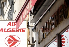Air Algeria logo at the headquarters in Paris