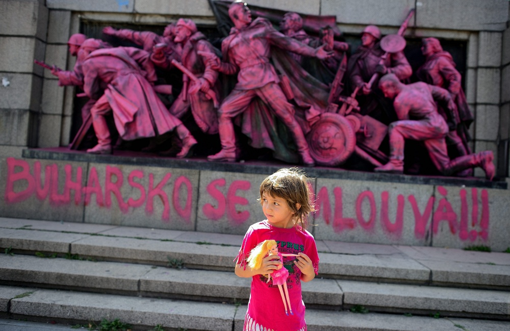 A monument to Soviet liberator soldiers in Bulgaria vandalized in August 2013