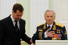 Dmitry Medvedev and Mikhail Kalashnikov, 2009