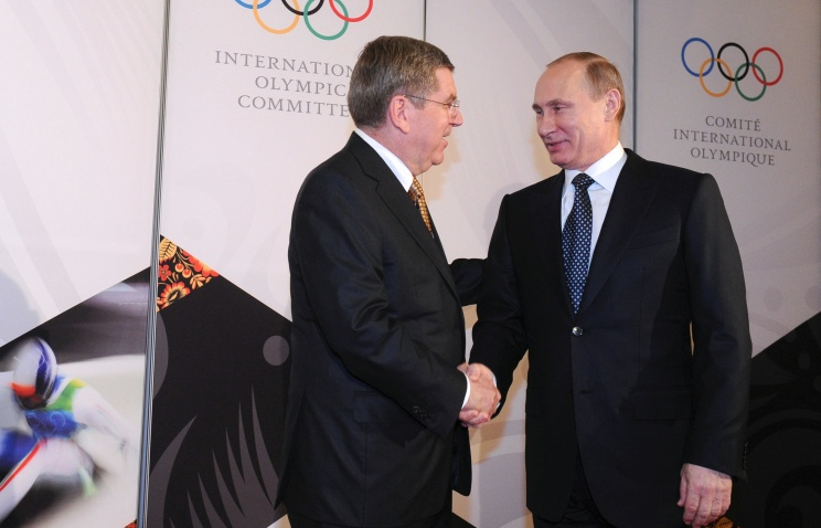 Putin thanks IOC for giving Russian right to host Olympic Games