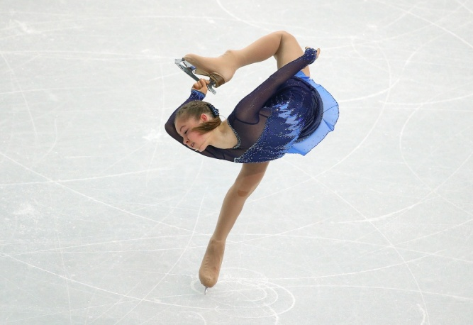 Russian figure-skater Yulia Lipnitskaya won teams short programme at Sochi Olympics