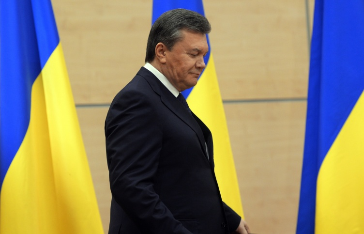 Viktor Yanukovych during his previous press conference in Rostov-on-Don