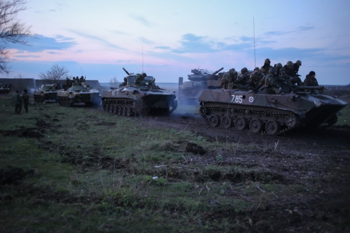 Ukrainian airborne brigade stationed outside Slavyansk