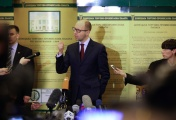 Parliament-appointed Prime Minister of Ukraine Arseniy Yatsenyuk