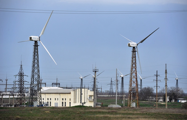 Mirnovskaya wind power plant in Crimea