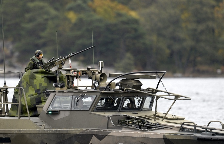 Sweden's military vessel during search